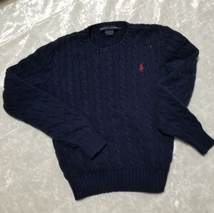 Ralph Lauren Boys Dark Blue Knitted Sweater